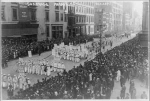 Pre-Election Parade for Suffrage in NYC; October 23, 1915; Library of Congress